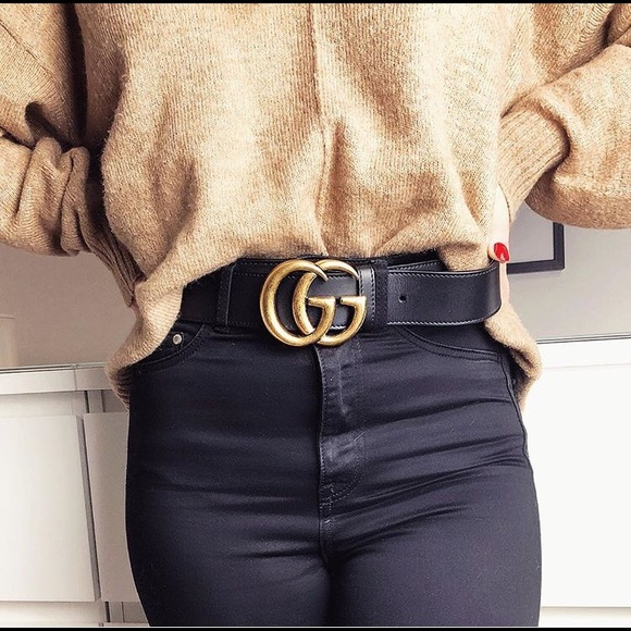 ed49536bfad Accessories - USED Gucci Double G Bronze belt size 80 cm